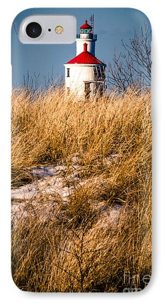 IPhone Case featuring the photograph Lighthouse Amongst The Tall Grass by Mark David Zahn Photography