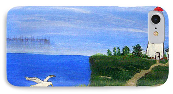 Lighthouse And Seagull  Phone Case by Mindy Bench