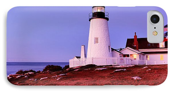 Lighthouse At A Coast, Pemaquid Point IPhone Case by Panoramic Images