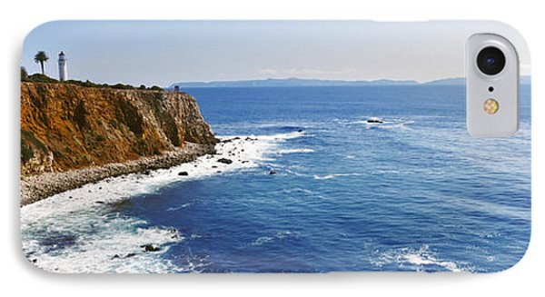 Lighthouse At A Coast, Point Vicente IPhone Case by Panoramic Images