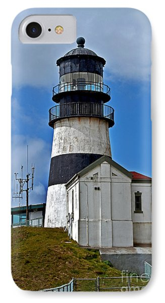 IPhone Case featuring the photograph Lighthouse At Cape Disappointment Washington by Valerie Garner