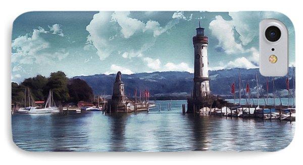 Lighthouse At Lindau IPhone Case by Georgiana Romanovna