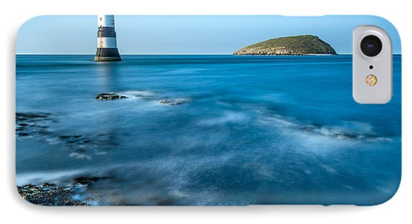 Lighthouse At Penmon Point Phone Case by Adrian Evans