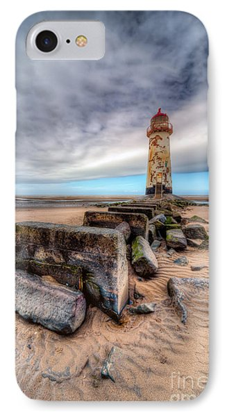 Lighthouse At Talacre  Phone Case by Adrian Evans