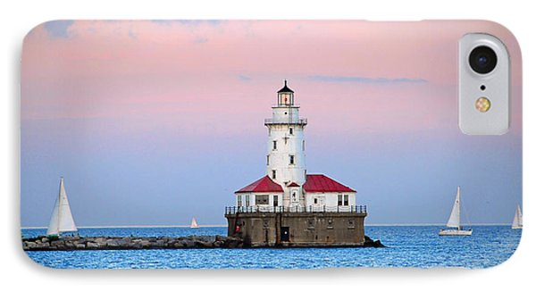 Lighthouse At The Navy Pier Phone Case by Lynn Bauer
