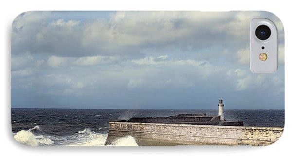 Lighthouse At Whitehaven Phone Case by Amanda Elwell