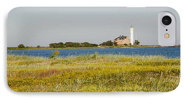 Lighthouse At Yellow Coast IPhone Case by Kennerth and Birgitta Kullman