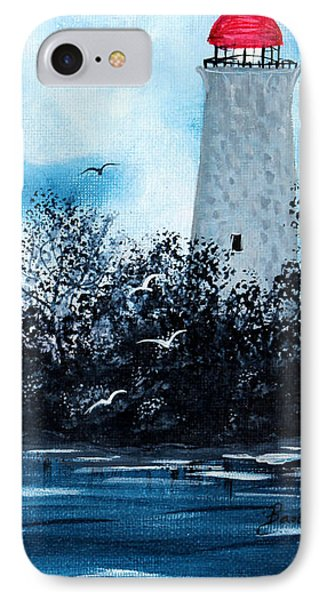 Lighthouse Blues Phone Case by Barbara Griffin