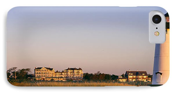 Lighthouse In A Town, Edgartown IPhone Case by Panoramic Images