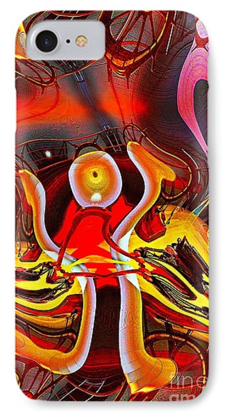 Lighthouse In Abstract IPhone Case by Blair Stuart