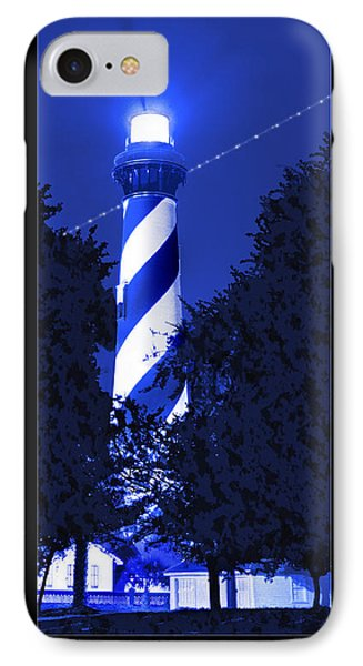 Lighthouse In Blue Phone Case by Mike McGlothlen