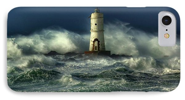 Lighthouse In The Storm Phone Case by Gianfranco Weiss