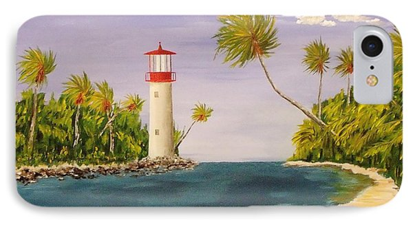 Lighthouse In The Tropics IPhone Case by Mike Caitham