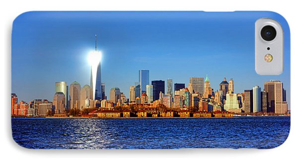 Lighthouse Manhattan IPhone Case by Olivier Le Queinec