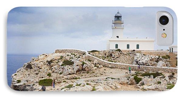 Lighthouse Of Caballeria Phone Case by Antonio Macias Marin