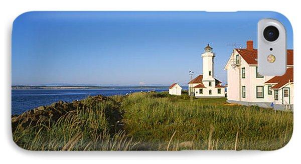 Lighthouse On A Landscape, Ft. Worden IPhone Case