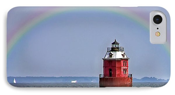Lighthouse On The Bay IPhone Case by Brian Wallace