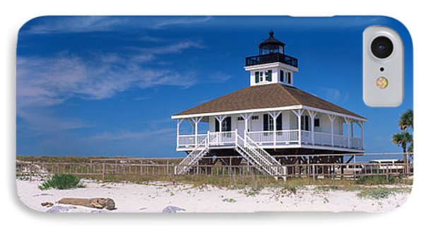 Lighthouse On The Beach, Port Boca IPhone 7 Case by Panoramic Images