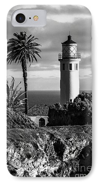 IPhone Case featuring the photograph Lighthouse On The Bluff by Jerry Cowart