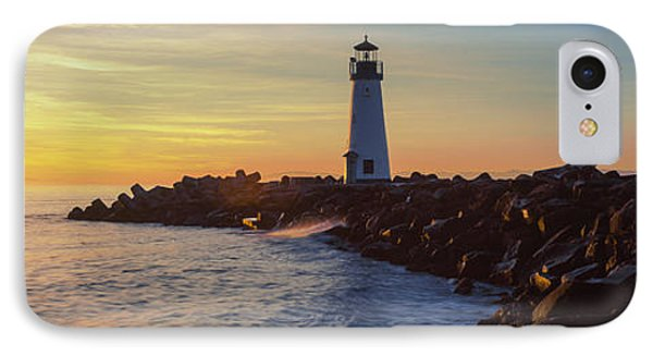 Lighthouse On The Coast At Dusk, Walton IPhone Case by Panoramic Images