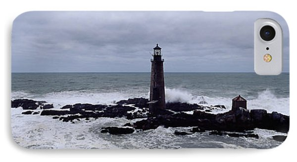 Lighthouse On The Coast, Graves Light IPhone Case by Panoramic Images