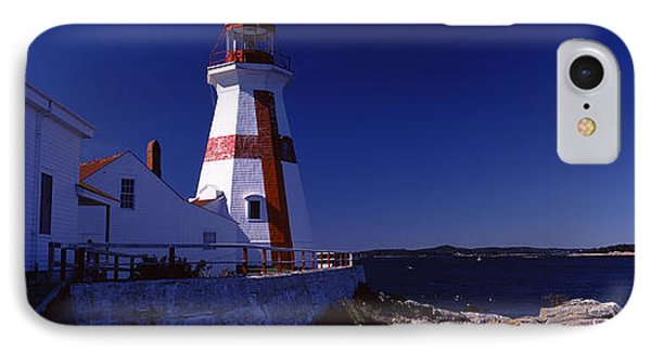 Lighthouse On The Coast, Head Harbour IPhone Case by Panoramic Images