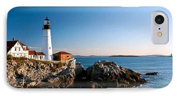 Lighthouse On The Coast, Portland Head IPhone Case by Panoramic Images