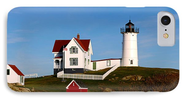 Lighthouse On The Hill, Cape Neddick IPhone Case