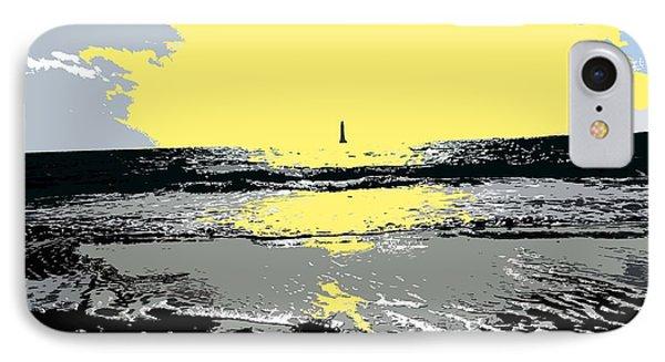 Lighthouse On The Horizon Phone Case by Patrick J Murphy