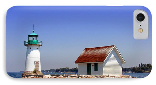 Lighthouse On The St Lawrence River Phone Case by Olivier Le Queinec