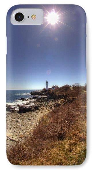 Lighthouse Path Phone Case by Joann Vitali