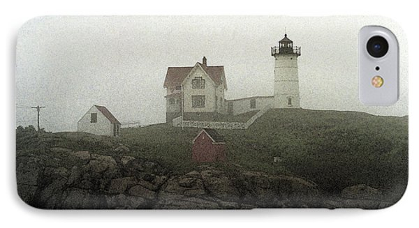 Lighthouse - Photo Watercolor IPhone Case by Frank Romeo