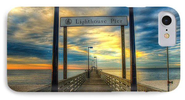 IPhone Case featuring the photograph Lighthouse Pier by Maddalena McDonald