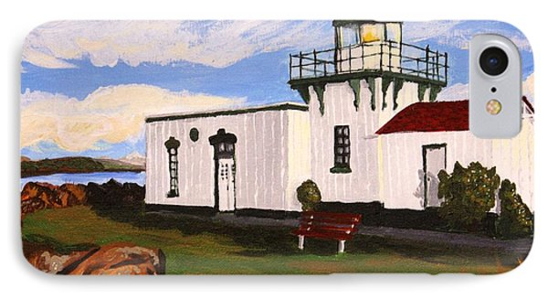 Lighthouse Point No Point Phone Case by Vicki Maheu