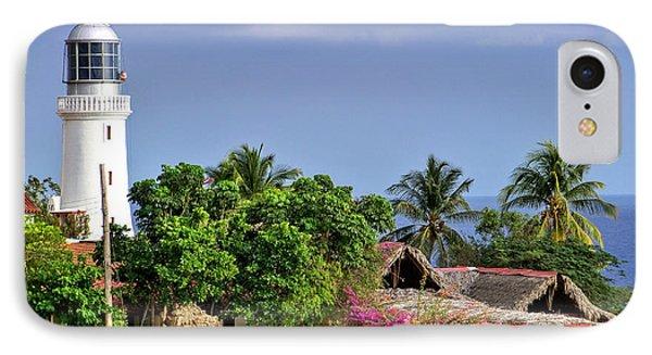 Lighthouse Santiago De Cuba IPhone Case by Lynn Bolt