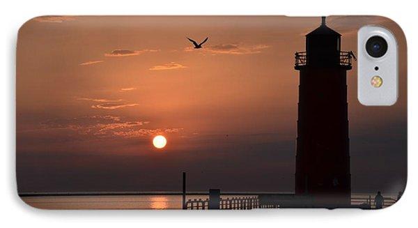Lighthouse Sunrise IPhone Case by Nikki McInnes