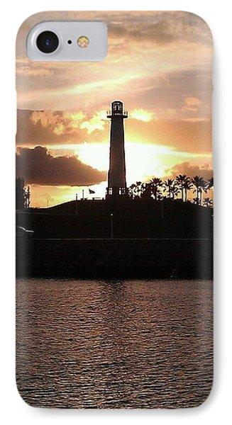 IPhone Case featuring the photograph Lighthouse Sunset by John Glass
