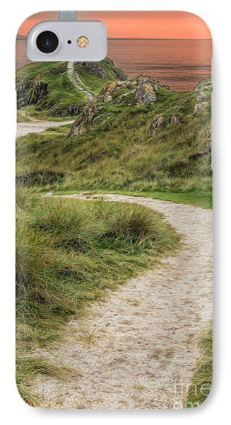 Lighthouse Trail Phone Case by Adrian Evans