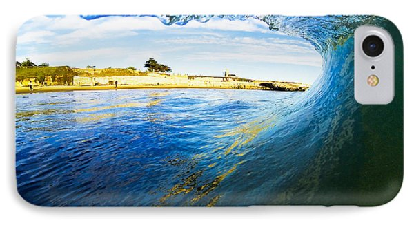 IPhone Case featuring the photograph Lighthouse Wave 1 by Paul Topp