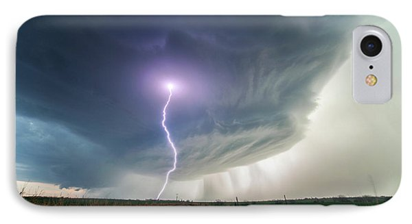 Lighting And Supercell Storm IPhone Case by Roger Hill