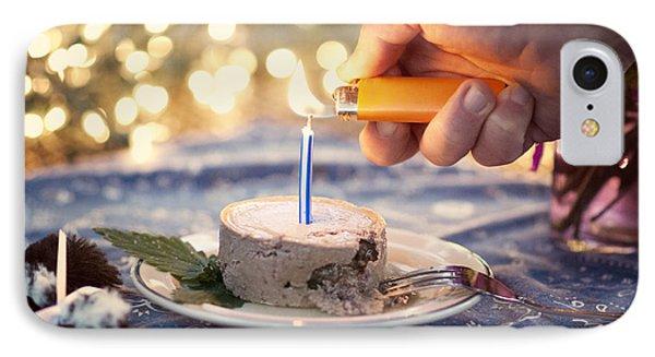 Lighting The Birthday Candle Phone Case by Juli Scalzi