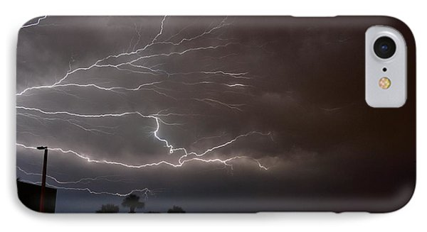 Lightning 5 IPhone Case by Richard Zentner