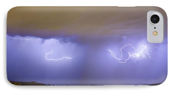 Lightning And Rain Over Rocky Mountain Foothills Phone Case by James BO  Insogna
