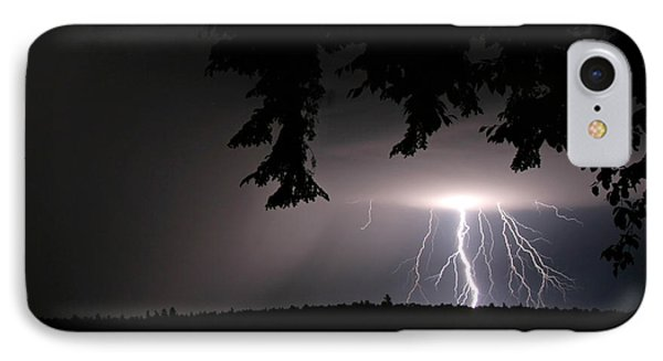 Lightning At Night IPhone Case