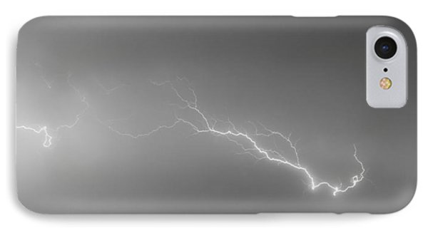 Lightning Bolts Coming In For A Landing Panorama Bw Phone Case by James BO  Insogna