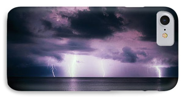 Lightning Bolts Over Gulf Coast IPhone Case by Panoramic Images