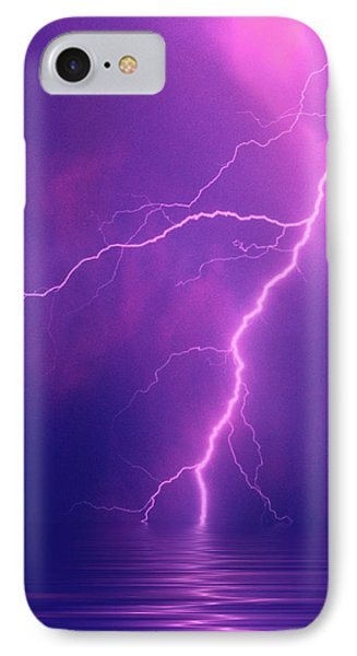 Lightning Bolts Over Water IPhone Case by Jaynes Gallery
