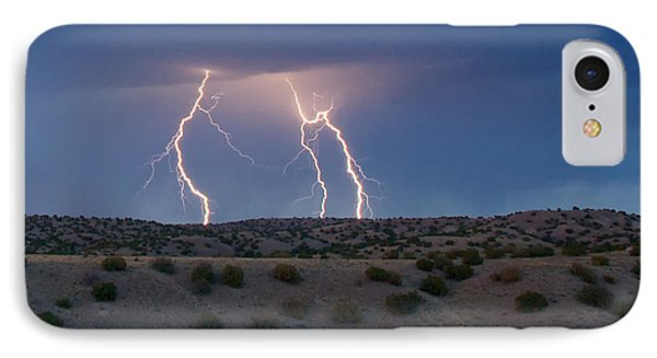 Lightning Dance Over The New Mexico Desert IPhone Case by Mary Lee Dereske