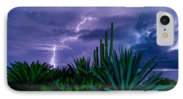 Lightning During Storm Phone Case by Dmitry Sergeev