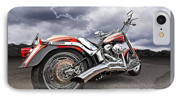Lightning Fast - Screamin' Eagle Harley IPhone Case by Gill Billington